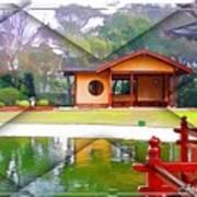 Djg-0004 Pavilion View Of Teahouse Art Print