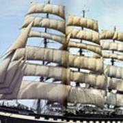 dk tall ships kruzenshtern barque lyr 1926 full D K Spinaker Art Print