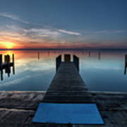 Dnr West Boat Launch Sunrise Art Print