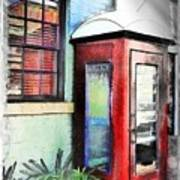 Do-00091 Telephone Booth In Morpeth Art Print