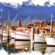 Do-00096 Boats In Nelson Bay Early 90s Art Print