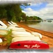 Do-00125 Tender Boats Art Print