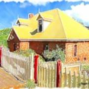 Do-00142 House And Fence Art Print
