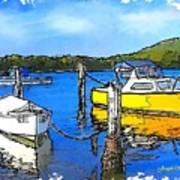 Do-00147 Resting Boats Art Print