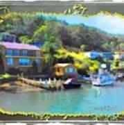 Do-00243 Houses On Brisbane Water Art Print