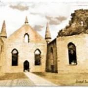 Do-00248 Church At Port Arthur Art Print