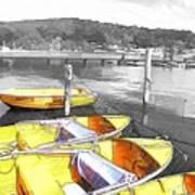 Do-00279 Yellow Boats Art Print