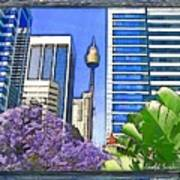 Do-00285 Sydney Centre Tower In Spring Art Print