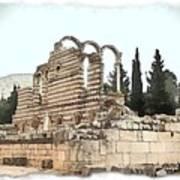 Do-00306 Old Ruins In Anjar Art Print