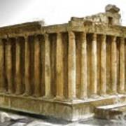 Do-00311 The Temple Of Bacchus Baalbeck Art Print