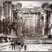 Do-00316 Inside The Temple Of  Bacchus - Baalbeck Art Print