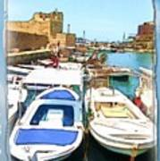 Do-00347 Boats In Byblos Port Art Print