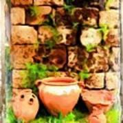 Do-00348 Jars In Byblos Art Print
