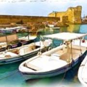 Do-00350 Byblos Port Art Print