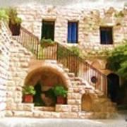 Do-00374 Old Building In Deir El-kamar Art Print