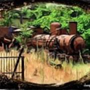 Do-00411 Old Train In Ryak Art Print