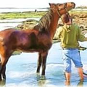 Do-00421 Washing Horse In Mina Art Print