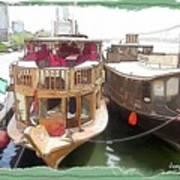 Do-00475 Old Boats Art Print