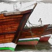 Do-00476 Abra Dhow Boats Art Print