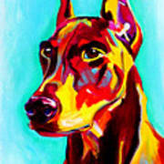 Doberman - Prince Print by Alicia VanNoy Call