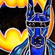 Dog Superhero Bat Art Print