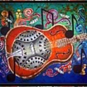 Dobro - Slide Guitar-bordered Art Print