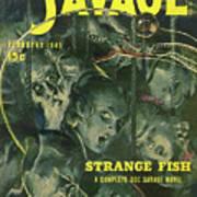 Doc Savage Strange Fish Art Print