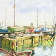 Dock Gate Dysart Harbour Fife Art Print