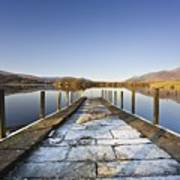 Dock In A Lake, Cumbria, England Art Print by John Short
