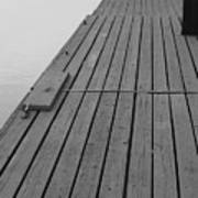 Dock In Black And White Art Print