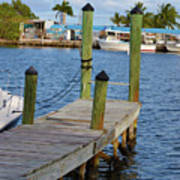 Dock In The Keys Art Print