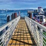 Dock Of Tiburon Sfo Art Print