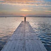 Dock On Arcata Bay At Twilight Art Print