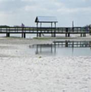 Dock On The Lagoon Art Print
