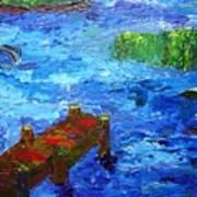 Dock On The Marsh Art Print