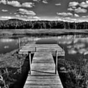 Dock On The Moose River Art Print