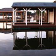 Dock Reflections Art Print