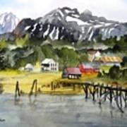 Docked At Haines Alaska Art Print
