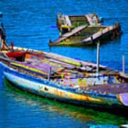 Docked Boat Art Print
