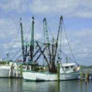 Docked In Port Orange Art Print