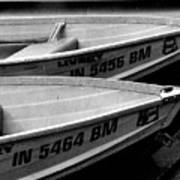 Docked Rowboats Art Print