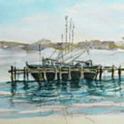 Docking Art Print