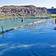 Docks Form Perimeter Of Dierkes Lake In Snake River  Near Twin Falls-idaho  Art Print
