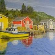 Docks Of Northwest Cove - Nova Scotia Art Print