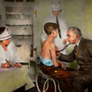 Doctor - At The Pediatricians Office 1925 Art Print