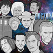 Doctor Who Collage Art Print by Gary Niles