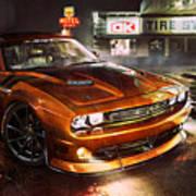 Dodge Challenger R T Art Print