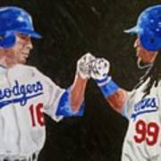 Dodgers Duo Art Print by Daryl Williams Jr
