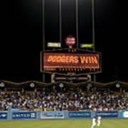 Dodgers Win Art Print