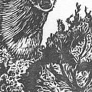 Doe And Weasel Art Print